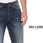 Pantalones vaqueros rectos Only & Sons para hombre baratos en Amaozn