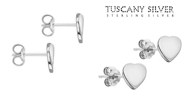 Pendientes Tuscany Silver Corazones en Plata de Ley 925 chollazo en Amazon