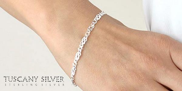 Pulsera Tuscany Silver de 18 cm de Plata de Ley para mujer chollo en Amazon