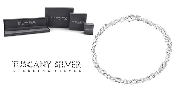 Pulsera Tuscany Silver de 18 cm de Plata de Ley para mujer barata en Amazon