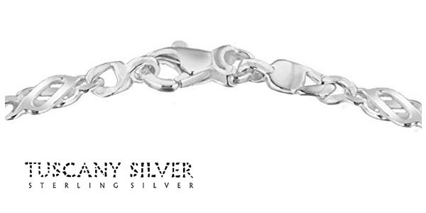 Pulsera Tuscany Silver de 18 cm de Plata de Ley para mujer chollazo en Amazon