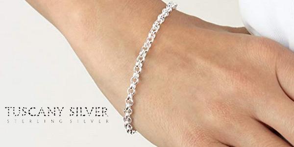 revisa 1505d 9f8af Chollo Pulsera de plata de Ley (925/1000) Tuscany Silver ...
