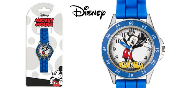 Reloj Mickey Mouse para niños MK1241 azul chollo en Amazon