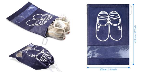 Set 12 Bolsas de zapatos para viajes chollo en Amazon