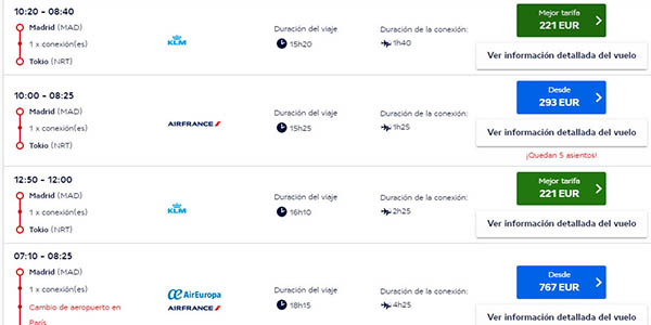 vuelos baratos Air France julio 2019