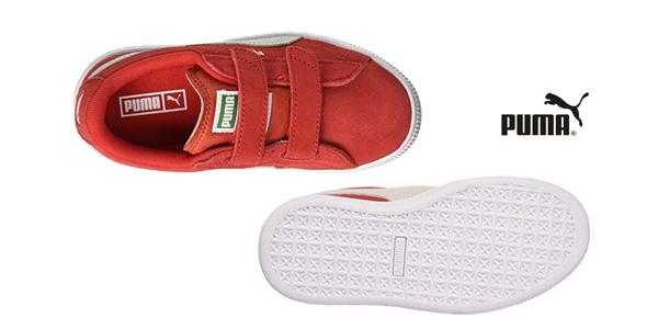 Zapatillas deportivas unisex Puma Suede 2 Straps para niños chollo en Amazon