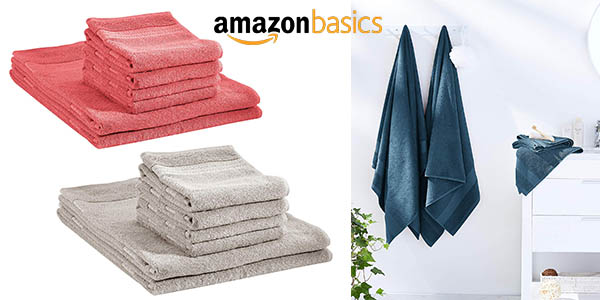 AmazonBasics toallas de baño chollo