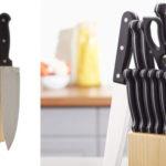 Juego de cuchillos de cocina de 14 piezas AmazonBasics barato en Amazon