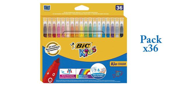 Pack de 36 rotuladores BIC Kids Kid Couleur barato en Amazon