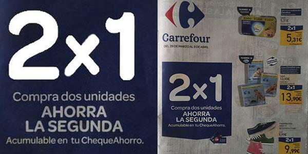 Carrefour ahorra segunda unidad en productos de supermercado marzo 2019