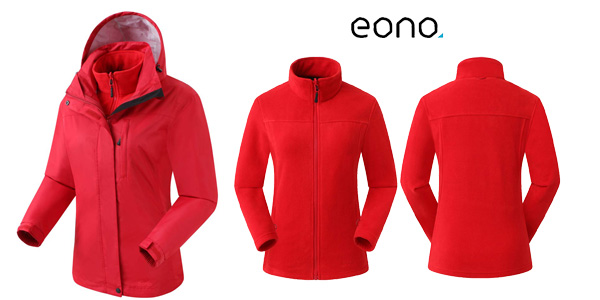 Chaqueta Eono Essentials 3 en 1 para mujer con capucha fija chollo en Amazon