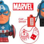 Chollo Pendrive Tribe Disney Marvel del Capitán América (16 GB)