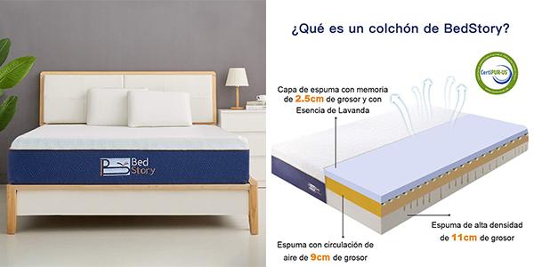 colchón viscoelástico BedStory barato