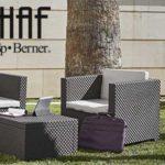 Conjunto 3 piezas muebles de Jardín Shaf Diva barato en Amazon