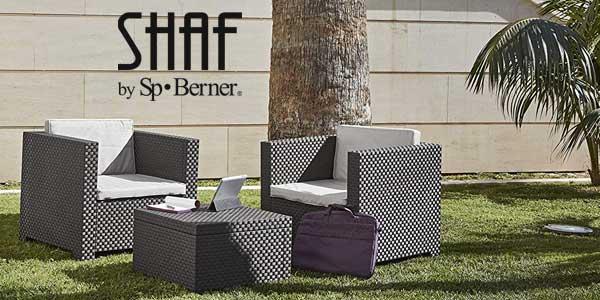 Chollo Set De 3 Muebles Para Terraza O Jardín Shaf Diva Por
