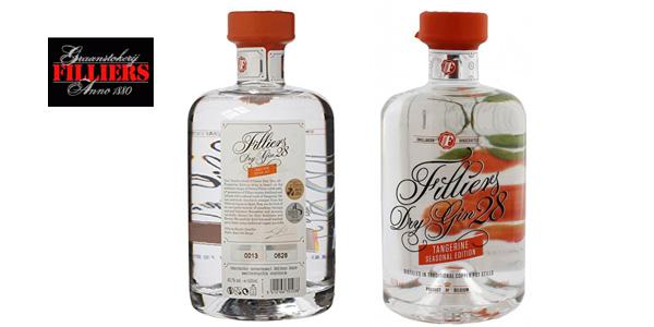 Botella ginebra premium Filliers Dry Gin 28 Tangerine Seasonal Edition de 500 ml barata en Amazon