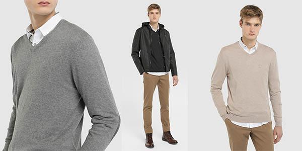 jersey de algodón con pico Fórmula Joven oferta