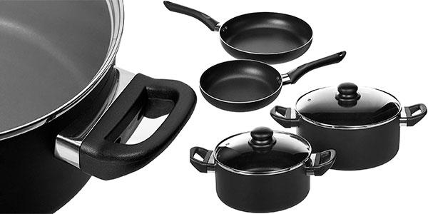 Juego AmazonBasics de 15 utensilios de cocina antiadherentes barato