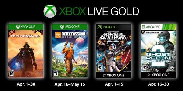 Juegos GRATIS con Gold abril de 2019 para Xbox One