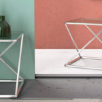 Mesa auxiliar Versa Trento de cristal/metal (51x51x51 cm) barata en Amazon