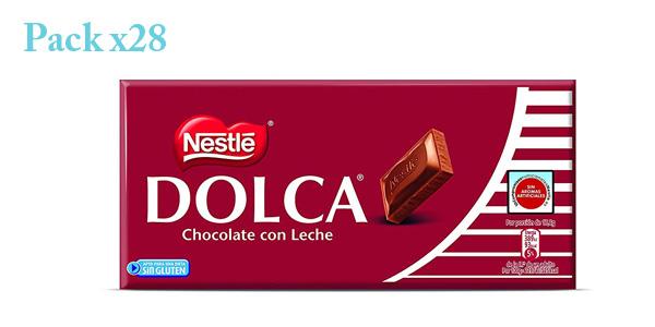 Pack x28 Tabletas de chocolate con leche Nestlé Dolca x 125gr/ud barato en Amazon