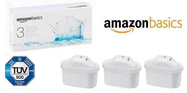 Pack de 3 Unidades de Cartuchos de filtrado de agua AmazonBasics barato en Amazon