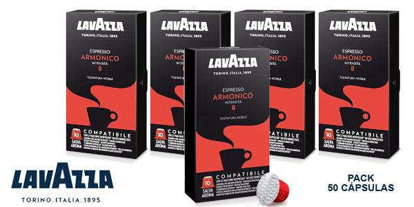Pack 5x10 Cápsulas Café Lavazza Armónico de intensidad 8 barato en Amazon