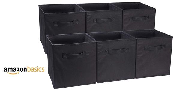 Set 6 Cubos de almacenamiento plegables AmazonBasics barato en Amazon