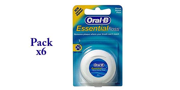 Pack x6 Oral-B Hilo Dental de 50 m/ud barato en Amazon