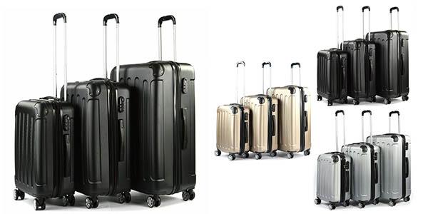 pack de trolleys rígidos en ABS resistentes oferta eBay