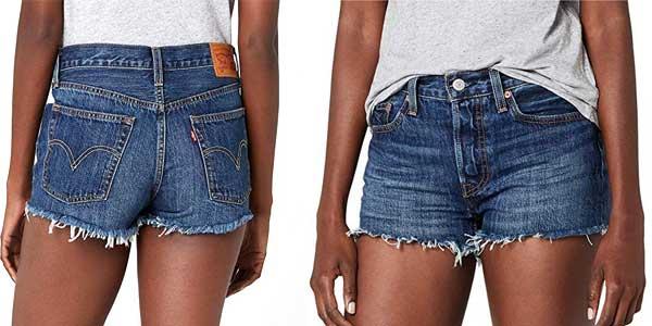 Pantalones vaqueros cortos Levi's 501 Short para mujer baratos en Amazon