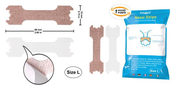 Paquete 31 Tiritas nasales deportivas y antironquidos talla L barato en Amazon