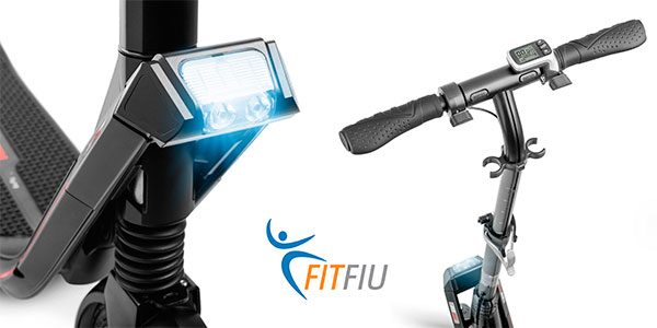 Patinete eléctrico plegable Fitfiu con batería Samsung de 4.400 mAh con suspensión en oferta