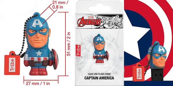 Pendrive Tribe Disney Marvel del Capitán América (16 GB) barato