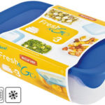 Set de 3 recipientes herméticos Curver Fresh & Go barato en Amazon