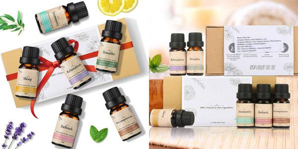 Set 6 Aceites Esenciales janolia para Aromaterapia de 10 ml/ud barato en Amazon