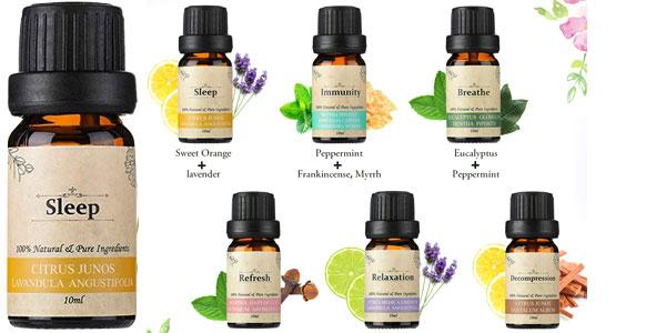 Set 6 Aceites Esenciales janolia para Aromaterapia de 10 ml/ud chollazo en Amazon