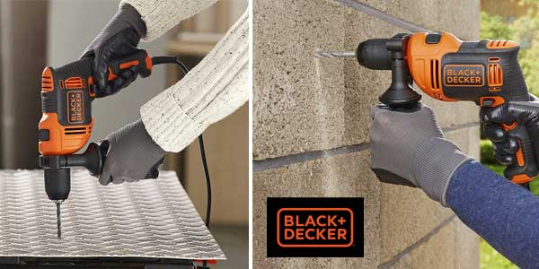 Taladro percutor BLACK+DECKER BEH710K-QS de 710 W chollo en Amazon