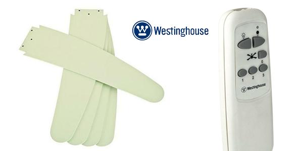 Ventilador de techo Westinghouse Bendan blanco, 80 W, 5 palas chollo en Amazon