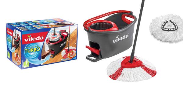 Pack de fregona y cubo Vileda Turbo Easy Clean con cabezal de repuesto barato en Amazon