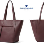 Bolso shopper Tom Tailor Josy burdeos barato en Amazon