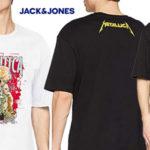 Camiseta de manga corta Jack & Jones Jormetallica para hombre barata en Amazon