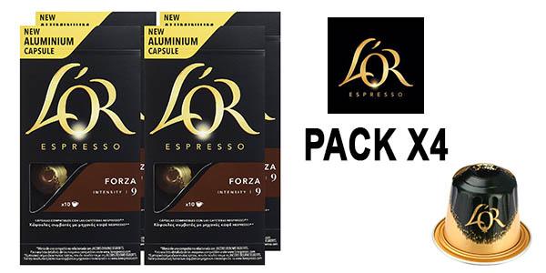 cápsulas de café L'OR Expresso Forza baratas