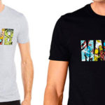 Chollo Camiseta Marvel Comic Strip Logo para hombre