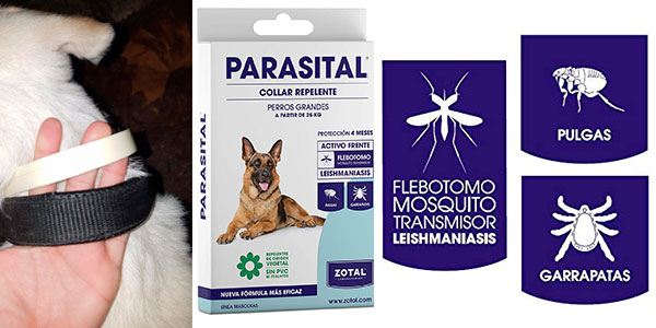 Chollo Collar antiparasitario Zotal Parasital de 75 cm para perros