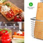 Chollo Juego Homever de tablas de bambú con soporte de acero para la cocina