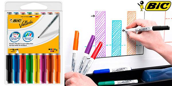 Chollo Pack de 8 rotuladores BIC Velleda para pizarra blanca
