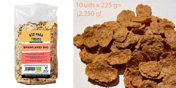 Chollo Pack Cereales Bio Branflakes para todos (10 paquetes de 225 gr)