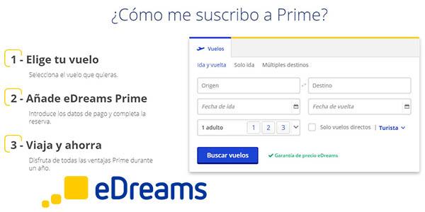 eDreams Prime suscripción viajes