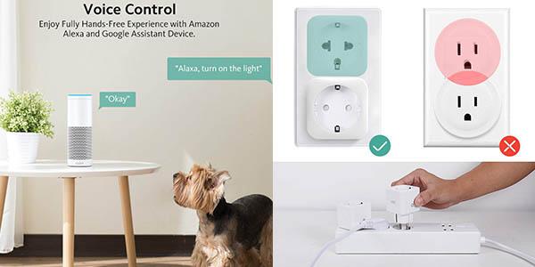 enchufes inteligentes Zoozee con aplicación móvil para programar por control por voz oferta